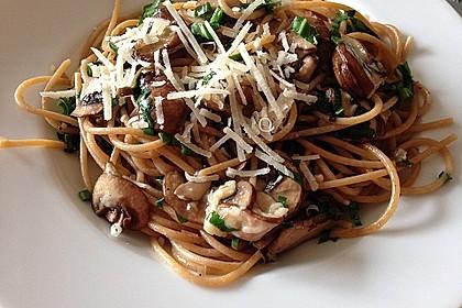 Bärlauch - Spaghetti mit Champignons 9