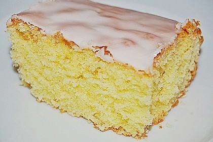 Schneller Zitronenkuchen auf dem Blech 10