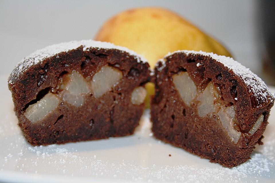schoko birnen muffins rezept mit bild von lucinde. Black Bedroom Furniture Sets. Home Design Ideas
