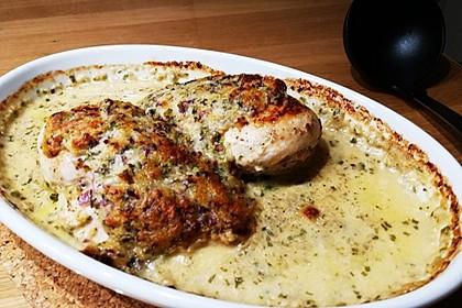 Hühnerbrustfilet mit Kräuter - Käsekruste 4
