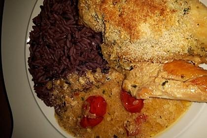 Hühnerbrustfilet mit Kräuter - Käsekruste 7