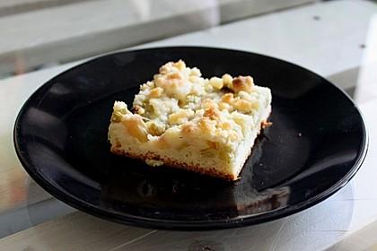Rhabarber - Streusel Kuchen auf Quark - Öl Teig 7