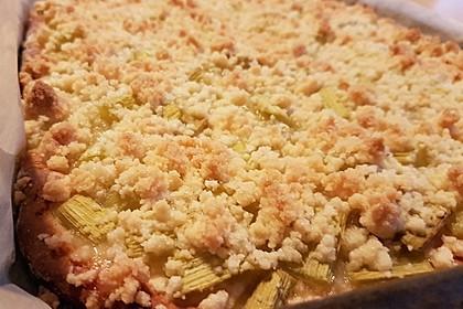 Rhabarber - Streusel Kuchen auf Quark - Öl Teig 2
