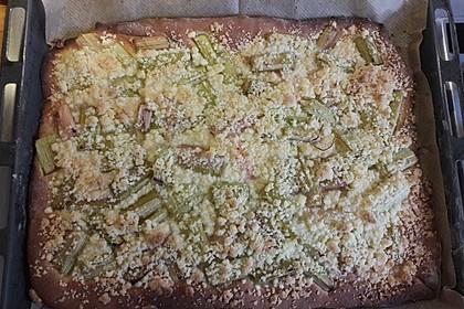 Rhabarber - Streusel Kuchen auf Quark - Öl Teig 21