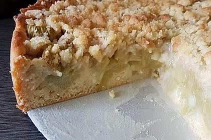 Rhabarber - Streusel Kuchen auf Quark - Öl Teig 17