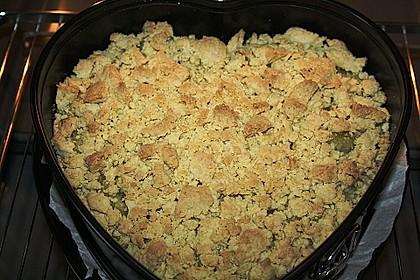 Rhabarber - Streusel Kuchen auf Quark - Öl Teig 4