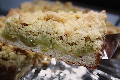 Rhabarber - Streusel Kuchen auf Quark - Öl Teig 3