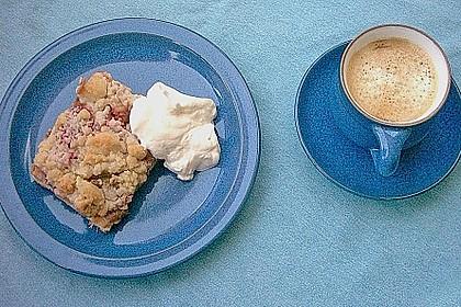 Rhabarber - Streusel Kuchen auf Quark - Öl Teig 6
