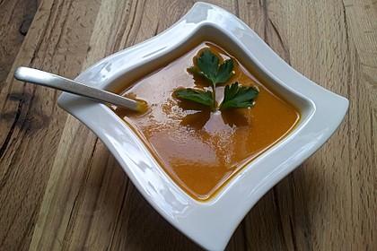 Kürbissuppe mit Ingwer und Kokosmilch 80