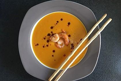 Kürbissuppe mit Ingwer und Kokosmilch 1