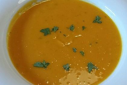 Kürbissuppe mit Ingwer und Kokosmilch 189