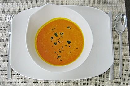 Kürbissuppe mit Ingwer und Kokosmilch 10
