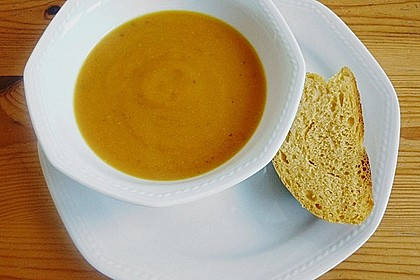 Kürbissuppe mit Ingwer und Kokosmilch 90