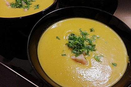 Kürbissuppe mit Ingwer und Kokosmilch 19