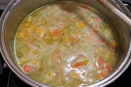 Kürbissuppe mit Ingwer und Kokosmilch 195