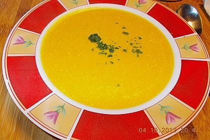 Kürbissuppe mit Ingwer und Kokosmilch 89