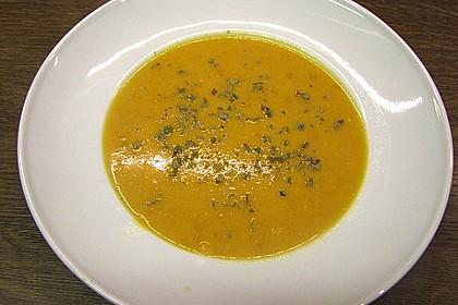 Kürbissuppe mit Ingwer und Kokosmilch 155
