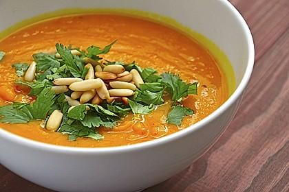 Kürbissuppe mit Ingwer und Kokosmilch 2