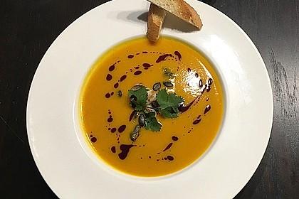 Kürbissuppe mit Ingwer und Kokosmilch 6