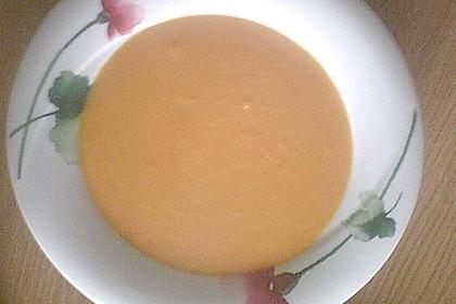 Kürbissuppe mit Ingwer und Kokosmilch 160