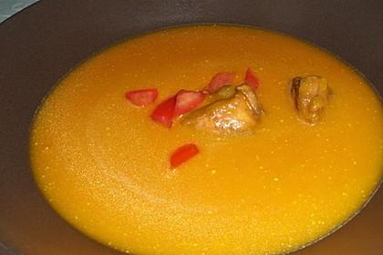 Kürbissuppe mit Ingwer und Kokosmilch 110