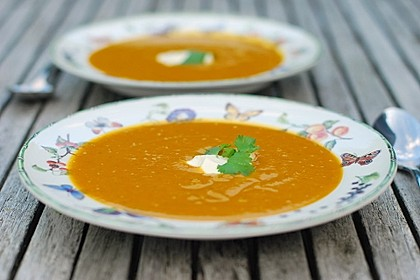 Kürbissuppe mit Ingwer und Kokosmilch 9