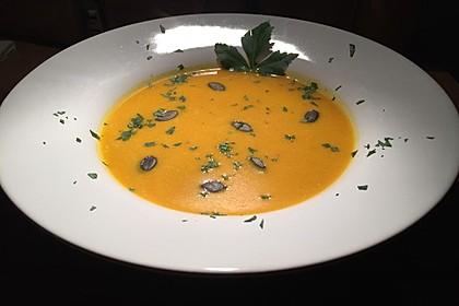 Kürbissuppe mit Ingwer und Kokosmilch 107