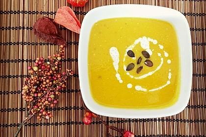Kürbissuppe mit Ingwer und Kokosmilch 14