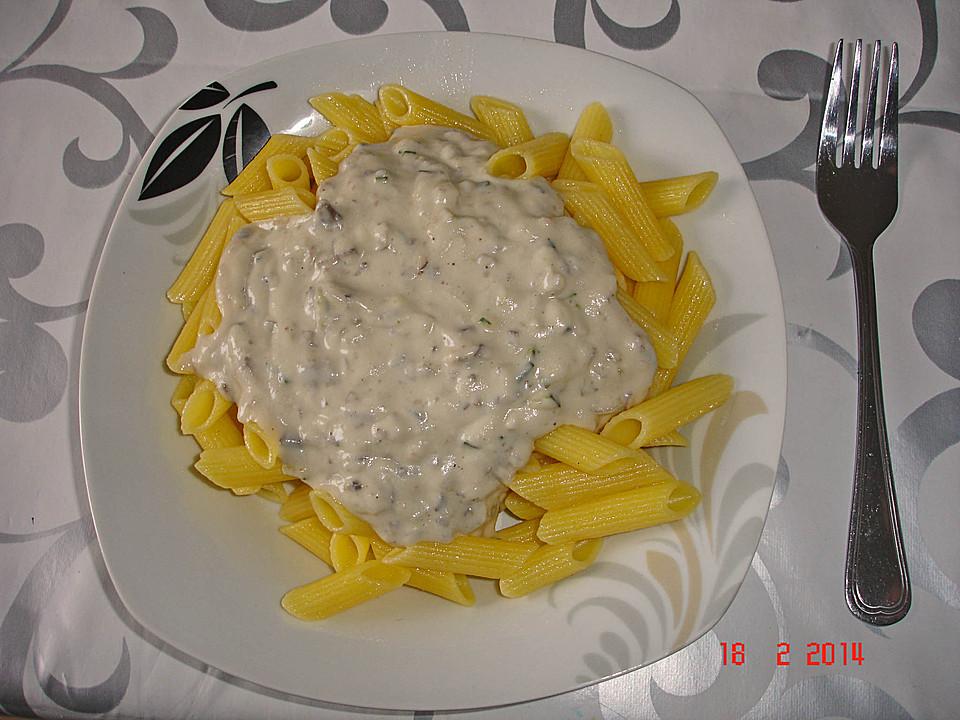 pasta mit veganer kase sahne sauce
