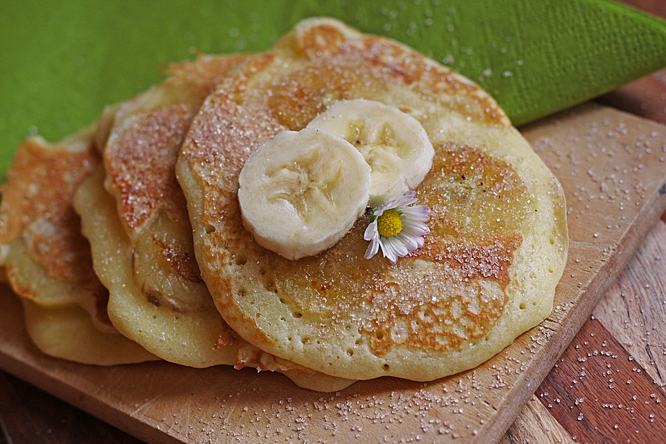 schoko bananen pancakes rezept mit bild von melanienchen. Black Bedroom Furniture Sets. Home Design Ideas