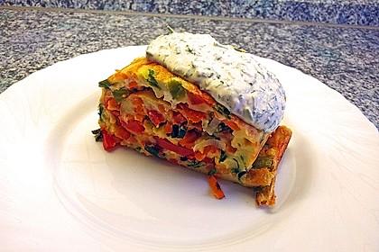 Ofenpfannkuchen mit Gemüse und Feta 2