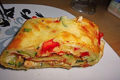 Ofenpfannkuchen mit Gemüse und Feta 21