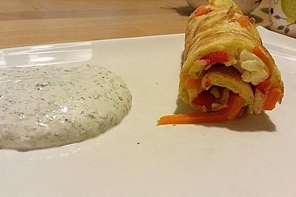 Ofenpfannkuchen mit Gemüse und Feta 16