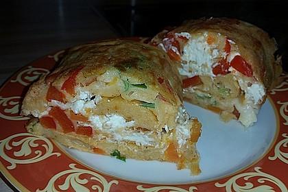 Ofenpfannkuchen mit Gemüse und Feta 31