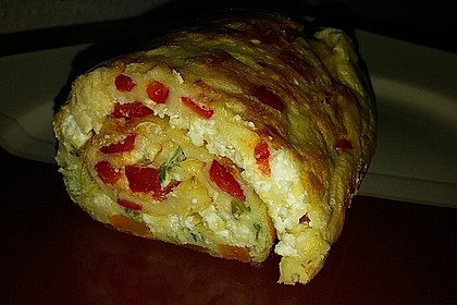 Ofenpfannkuchen mit Gemüse und Feta 28