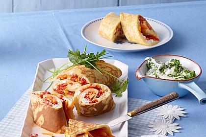Ofenpfannkuchen mit Gemüse und Feta 5