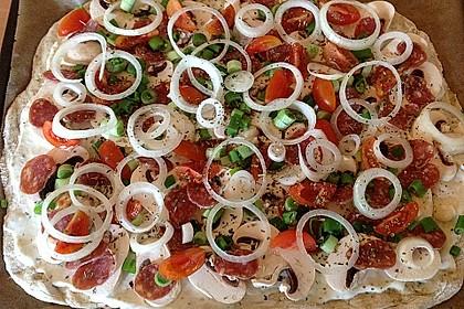 Salami-Flammkuchen