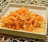 Apfel-Möhren-Salat mit frischem Ingwer