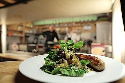 Kartoffelsalat mit Kürbiskernöl und Feldsalat