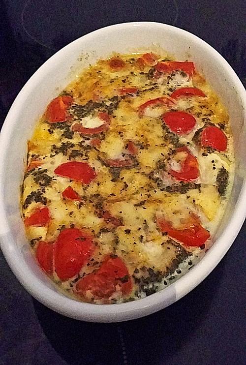 tomaten mozzarella auflauf rezept mit bild von k girl. Black Bedroom Furniture Sets. Home Design Ideas