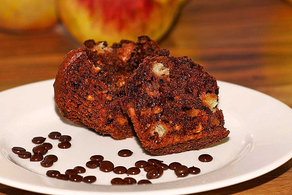apfel kakao muffins mit n ssen rezept mit bild. Black Bedroom Furniture Sets. Home Design Ideas