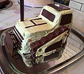 Bagger Planierraupe - Kuchen für den Kindergeburtstag (Bild)