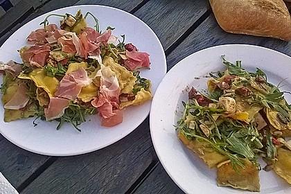 Tortellini-Rucola-Salat mit Pesto und Parmesan 7