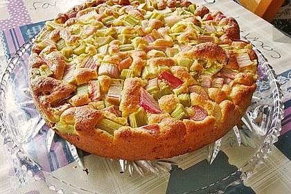 Feiner Rhabarberkuchen