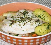 Seelachs im Gemüse-Kräuter-Päckchen