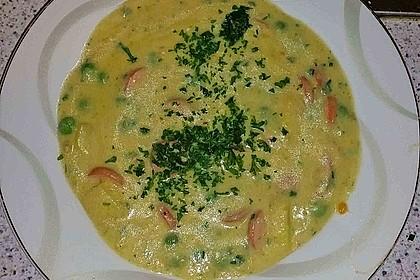 Kartoffelsuppe mit Erbsen und Mettwürstchen 42