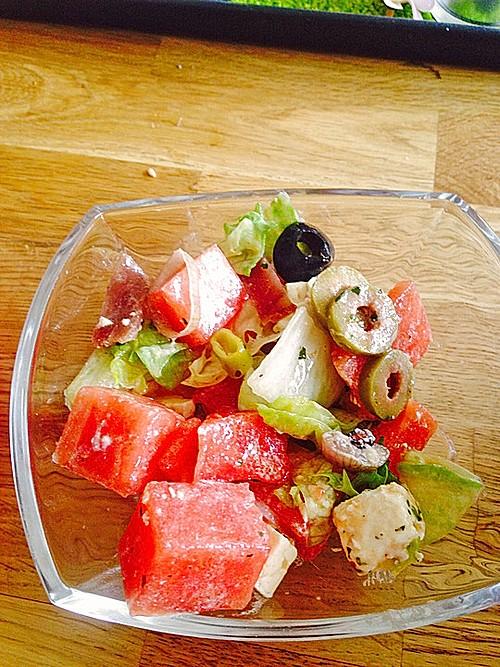 melone schafsk se salat rezept mit bild von mullemausi. Black Bedroom Furniture Sets. Home Design Ideas