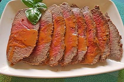 Roastbeef mit Tomatencreme