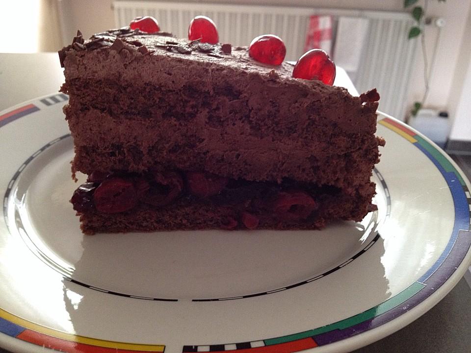 Schoko sahne kuchen torte