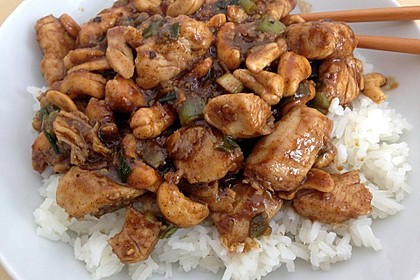 Glasiertes Huhn mit Hoisinsauce und Cashewkernen 4